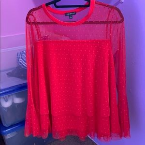 Pretty red lane Bryant shirt worn once
